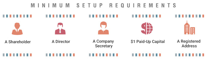 Setup requirement for subsidiary company registration in Singapore